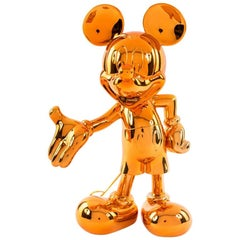 In Stock in Los Angeles, Mickey Mouse Orange Metallic Pop Sculpture Figurine