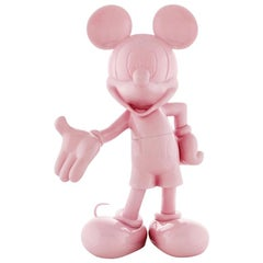 In Stock in Los Angeles, Mickey Mouse Pink Glossy Pastel Pop Sculpture Figurine