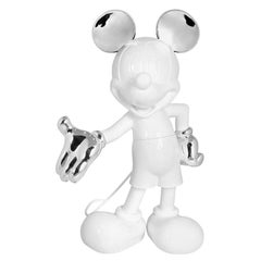 In stock in Los Angeles, Mickey Mouse White and Silver Pop Sculpture Figurine