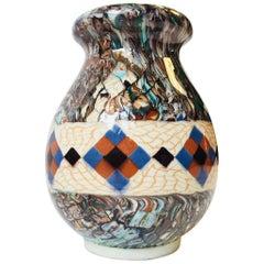 Micro Mosaic Ceramic Vase by Jean Gerbino for Vallauris, France, circa 1950