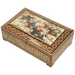 Micro Mosaic Indo Persian Inlaid Jewelry Box