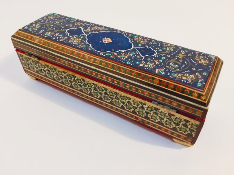 Micro Mosaic Indo Persian Inlaid Jewelry Trinket Box For Sale 6
