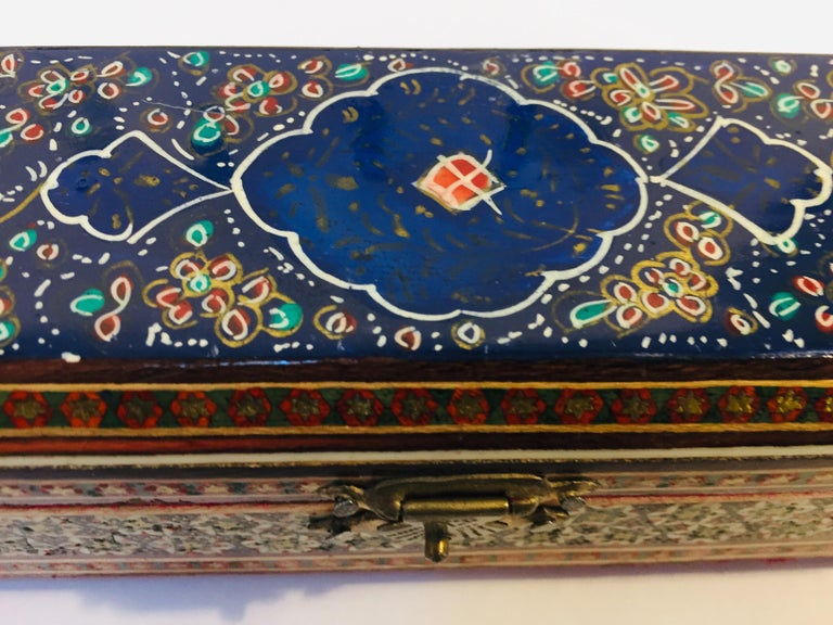Micro Mosaic Indo Persian Inlaid Jewelry Trinket Box For Sale 7