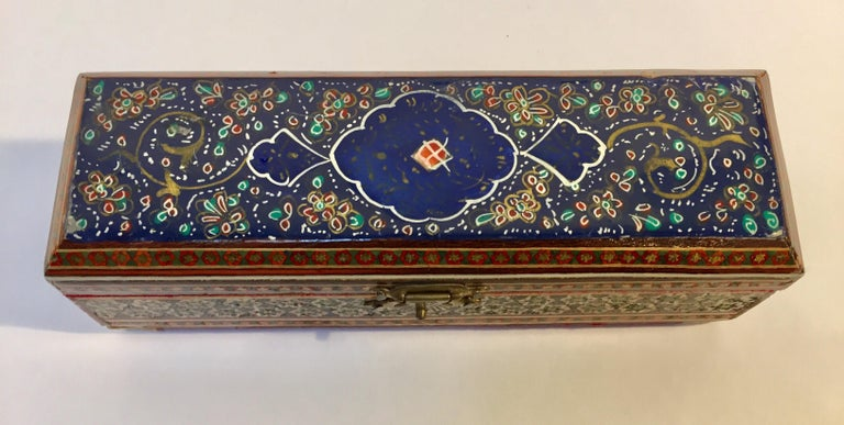 20th Century Micro Mosaic Indo Persian Inlaid Jewelry Trinket Box For Sale