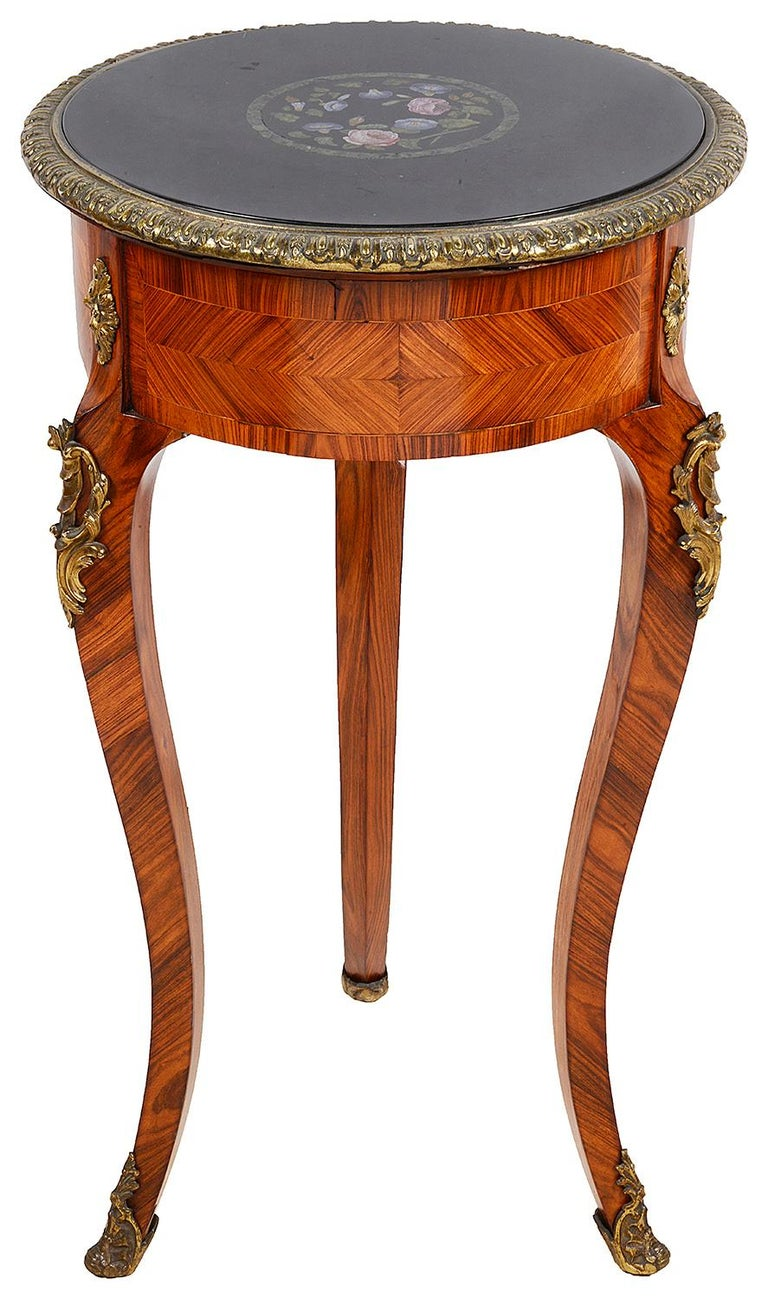 French Micro Mosaic Side Table, 19th Century For Sale