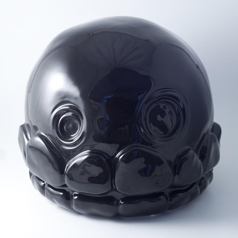 Modern Microbo Ceramic Sculpture Model Skull by Superego Editions, Italy For Sale