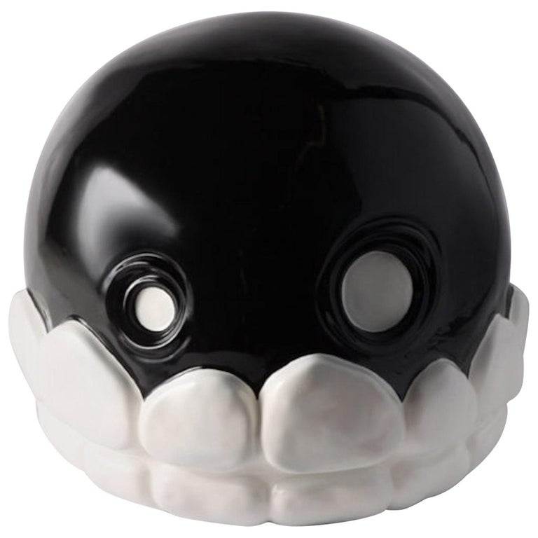 Microbo Ceramic Sculpture Model Skull by Superego Editions, Italy For Sale