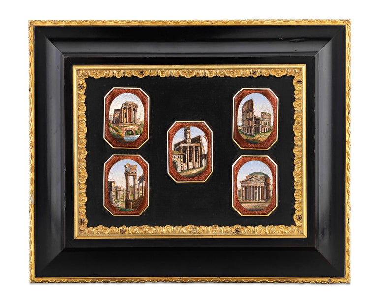 The time-honored decorative techniques of pietre dure and micromosaic are combined in this rare and exceptionally-crafted Grand Tour casket. Serving as a memento of this once-requisite rite of passage for young gentlemen of the upper class, this