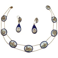 Micromosaic Demi-Parure Set, Early 19th Century