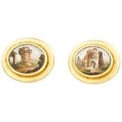 Micromosaic Earrings by Elizabeth Locke
