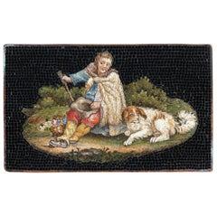 Micromosaic of Shepherd, Early 19th Century