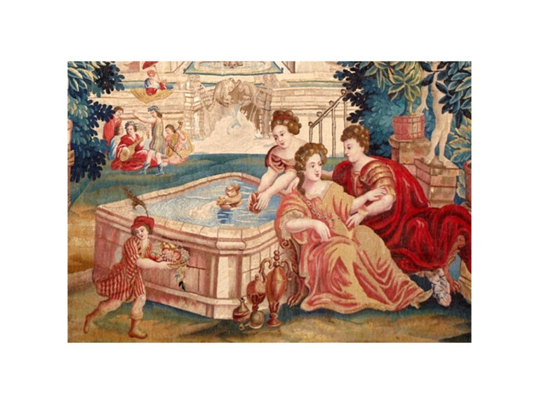Title: Allegory of Spring Circa 1650s, Brussels Dimensions: 280 x 405 cm; 9.2 x 13.3 ft Composition : Silk & wool Provenance: Private collection, France  This tapestry entitled