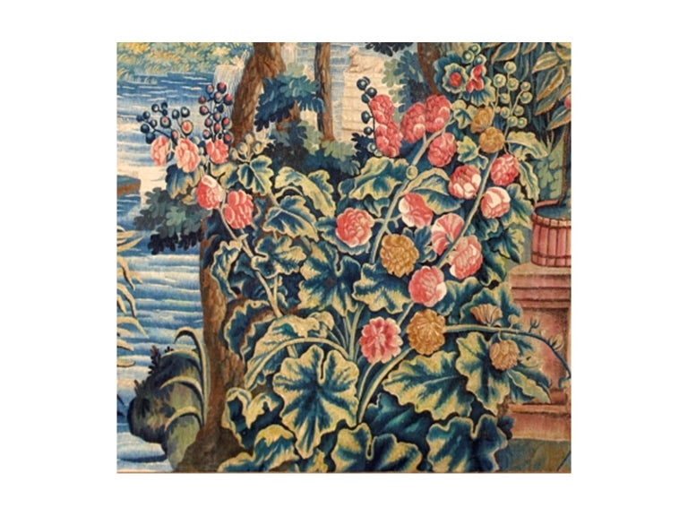 Belgian Mid-17th Century Antique Tapestry from Brussels -Allegory of Spring For Sale
