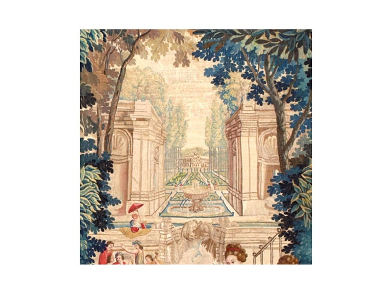 Hand-Woven Mid-17th Century Antique Tapestry from Brussels -Allegory of Spring For Sale