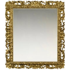 Mid-17th Century Carved Italian Baroque Frame, with Choice of Mirror
