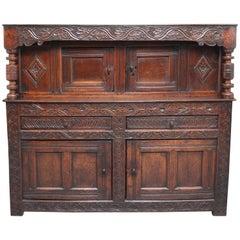 Mid-17th Century Oak Court Cupboard
