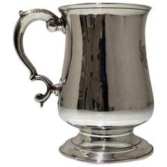 Mid-18th Century Antique George II Sterling Silver 3/4 Pint Mug Newcastle, 1759