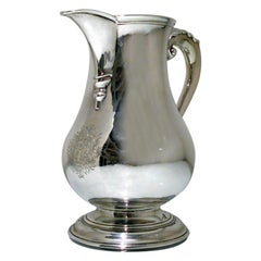 Mid-18th Century Antique George II Sterling Silver Beer Jug London 1759 R A Cox
