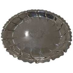 Mid-18th Century Antique George III Sterling Silver Strawberry Dish London, 1765