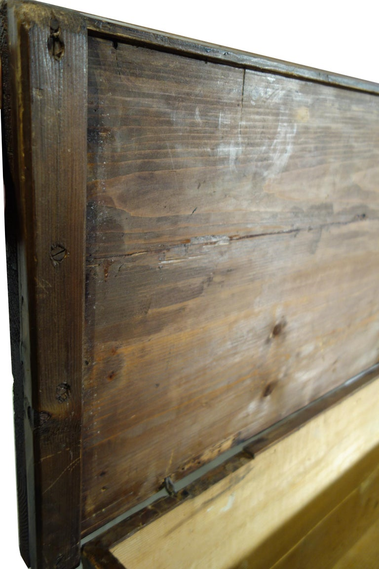 18th Century Antique Italian Cassina Marchigiana Hand Painted Nuptial Chest For Sale 15