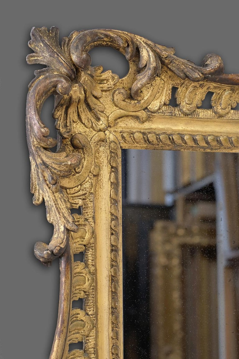 Mid-18th Century Carved British Rococo Frame, With Choice