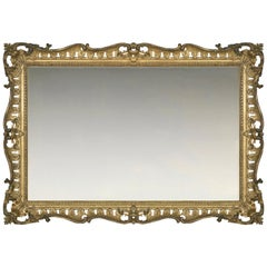 Mid-18th Century Carved British Rococo Frame, with Choice of Mirror