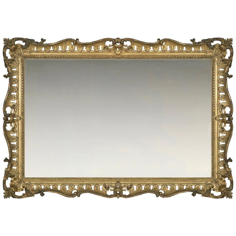 Mid-18th Century Carved British Rococo Frame, with Choice of Mirror For Sale