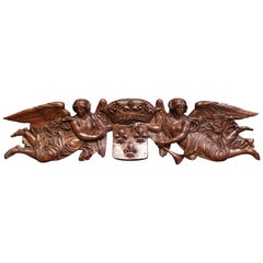 Mid-18th Century Carved Oak Wall Sculpture with Kingdom of France Coat of Arms