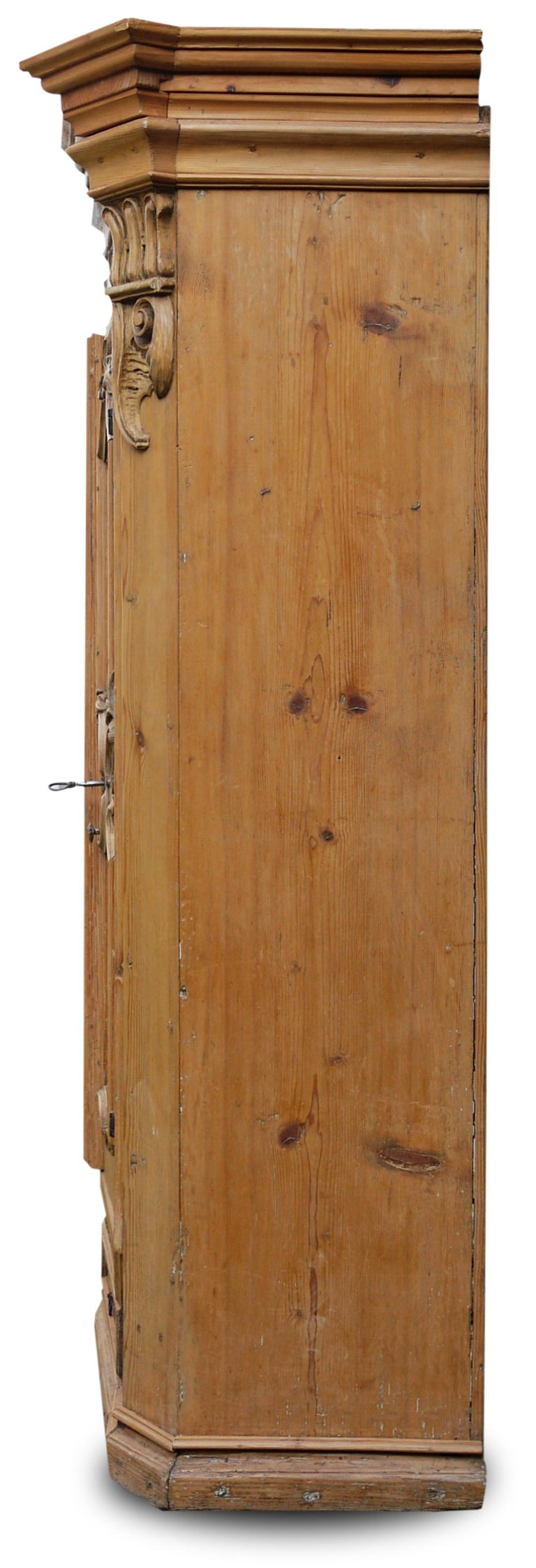 Italian Mid-18th Century Carved Wardrobe For Sale