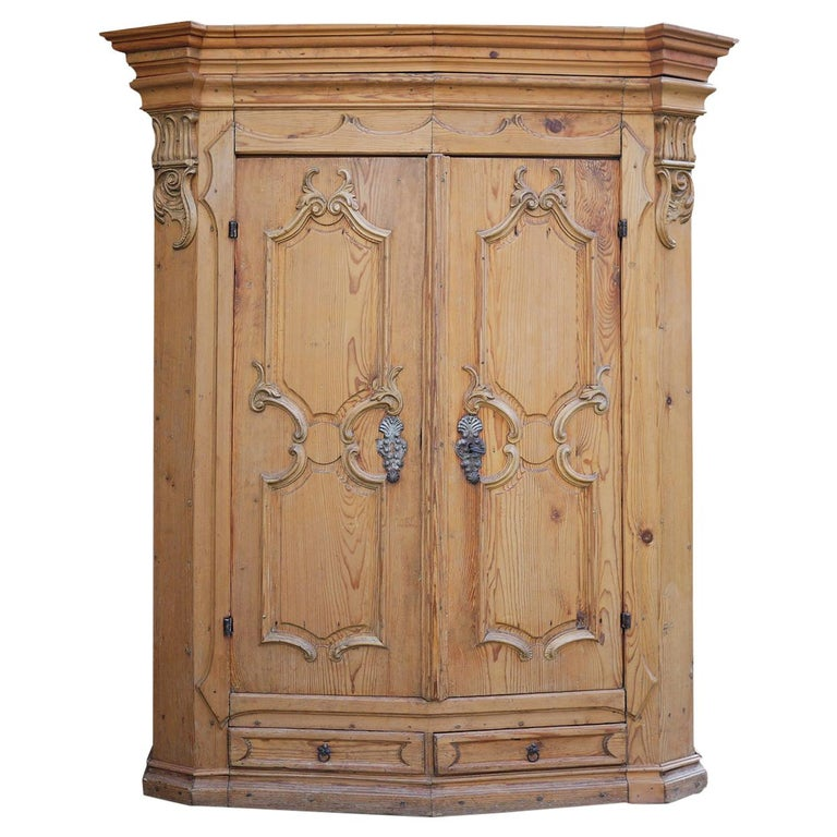 Mid-18th Century Carved Wardrobe For Sale
