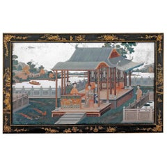 Mid-18th Century Chinese Export Mirror Painting