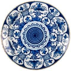 Mid-18th Century, Delft Faience Round Dish, circa 1750