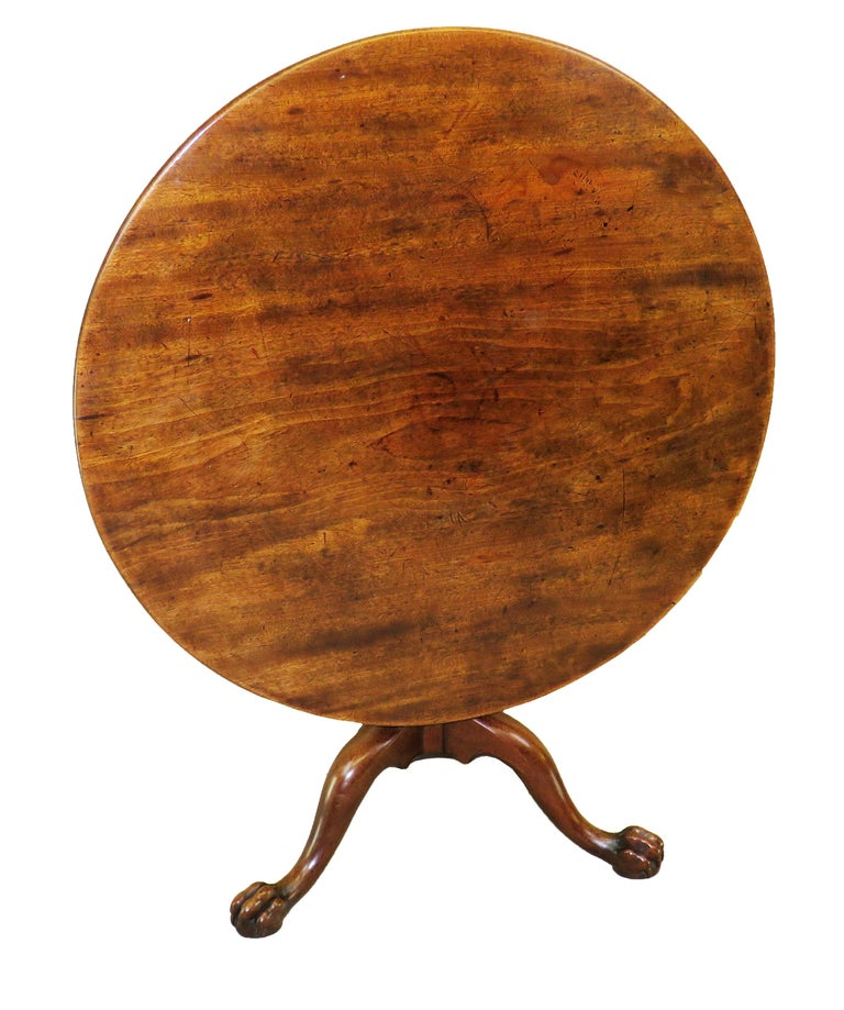 Mid-18th Century English Georgian Mahogany Circular Supper Table For Sale 2
