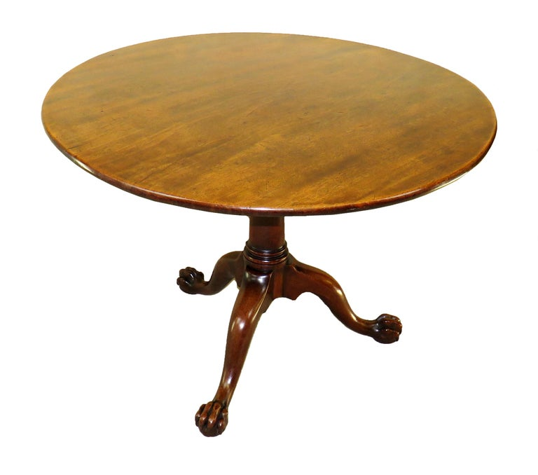Mid-18th Century English Georgian Mahogany Circular Supper Table For Sale 5