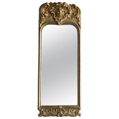 Mid-18th Century, French Gilded Rococo Wall Mirror
