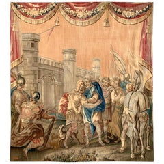 Mid-18th Century French Handwoven Mythological Aubusson Tapestry