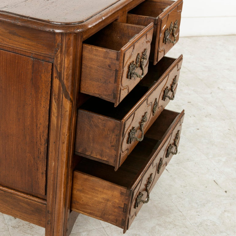 Mid-18th Century French Louis XIV Period Hand Carved Chestnut Commode or Chest For Sale 7