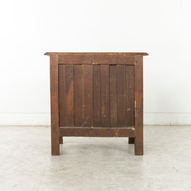 Mid-18th Century French Louis XIV Period Hand Carved Chestnut Commode or Chest For Sale 1