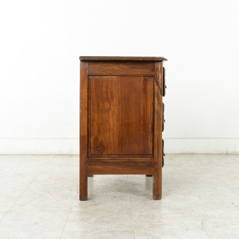 Mid-18th Century French Louis XIV Period Hand Carved Chestnut Commode or Chest For Sale 2