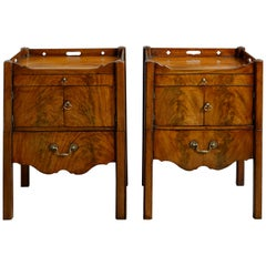 Mid-18th Century George II Period Tray Top Bedside Commodes