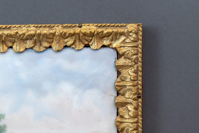 18th Century and Earlier Mid-18th Century Hand Painted Porcelain Plaque Sèvres For Sale