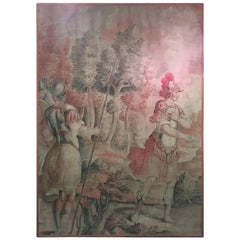 Mid-18th Century Italian Hand Painted Tapestry Depicting Roman Soldiers
