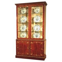 Mid 18th Century Mahogany and Gilt Display Bookcase