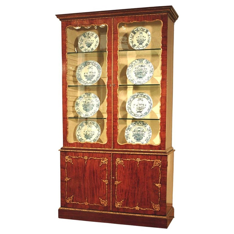 Mid 18th Century Mahogany and Gilt Display Bookcase For Sale