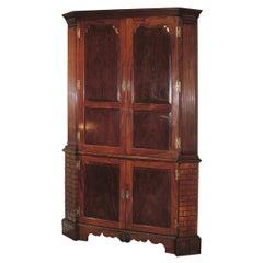 Mid-18th Century Mahogany Corner Cupboard
