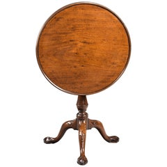Mid-18th Century Mahogany Dish Top Tilt Table