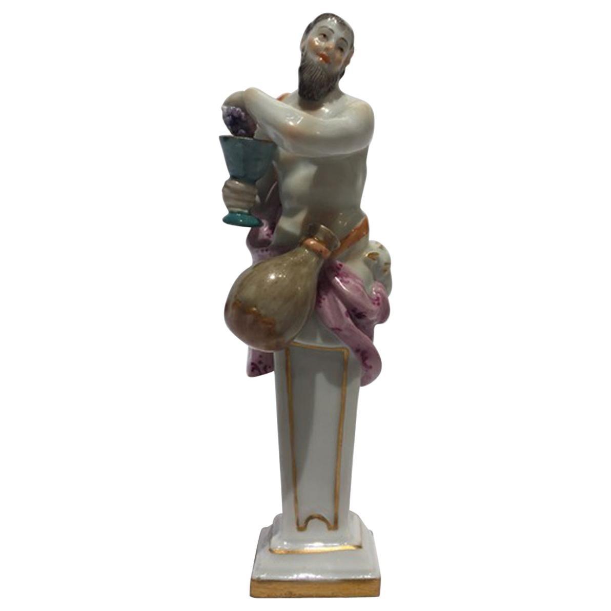 Mid-18th Century Meissen Porcelain Bacchus Figurine