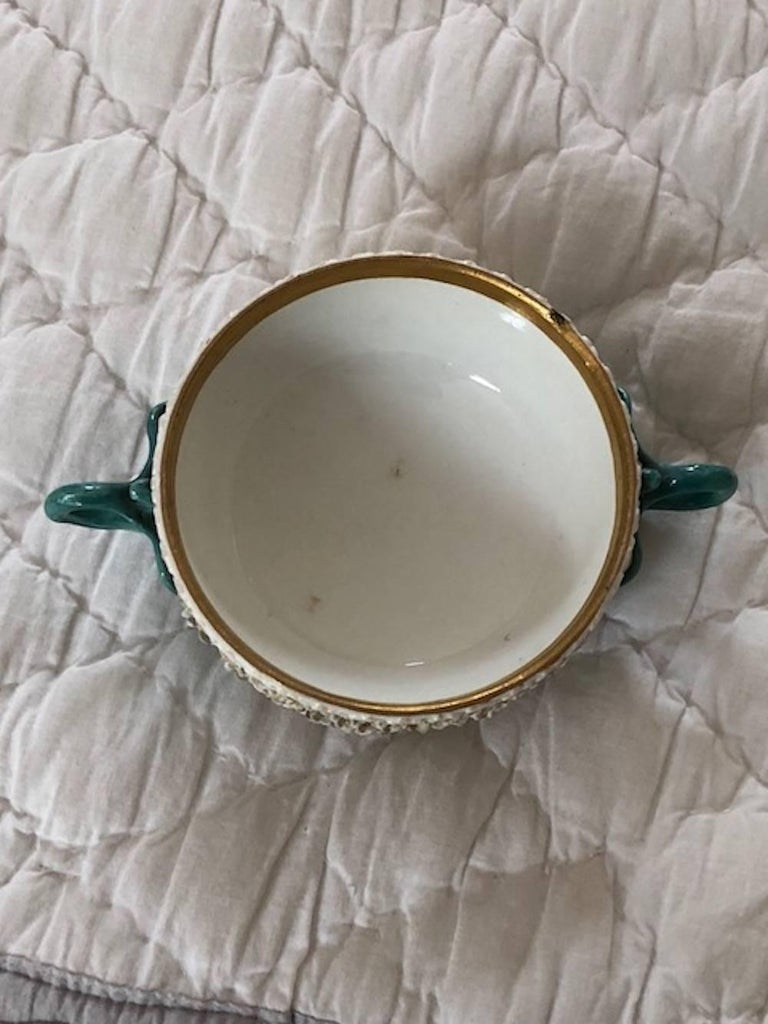 Mid-18th Century Meissen Two-Handled Cup with Cover and Saucer For Sale 2