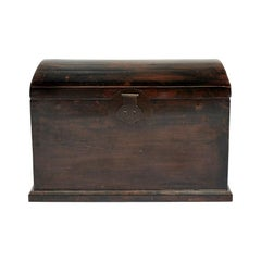 Mid-18th Century Ming Style Chest in Black Lacquer