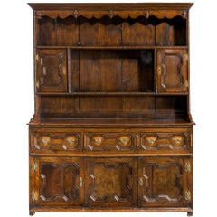 Mid-18th Century Oak Dresser and Rack